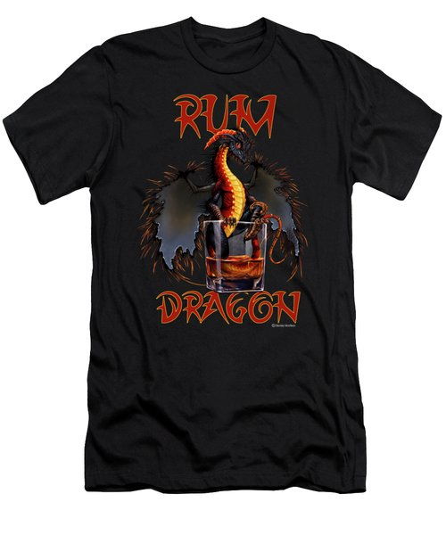 Rum Dragon Men's T-Shirt (Athletic Fit)