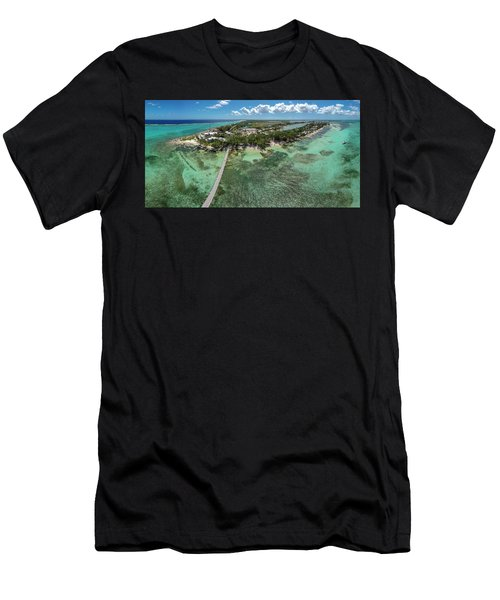 Men's T-Shirt (Athletic Fit) featuring the photograph Rum Point Beach Panoramic by Adam Romanowicz