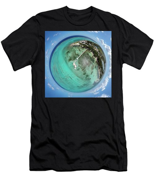 Men's T-Shirt (Athletic Fit) featuring the photograph Rum Point Little Planet by Adam Romanowicz