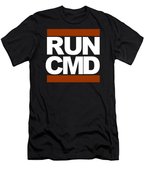 Men's T-Shirt (Slim Fit) featuring the photograph Run Cmd by Darryl Dalton