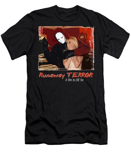Runaway Terror 1 - Black Men's T-Shirt (Slim Fit) by Mark Baranowski
