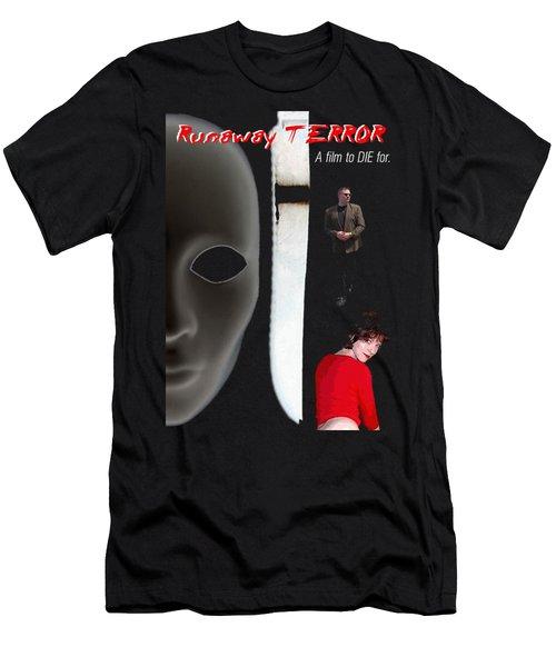 Runaway Terror 5 - Black Men's T-Shirt (Slim Fit) by Mark Baranowski