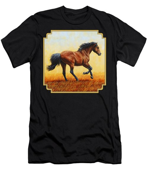 Running Horse - Evening Fire Men's T-Shirt (Athletic Fit)