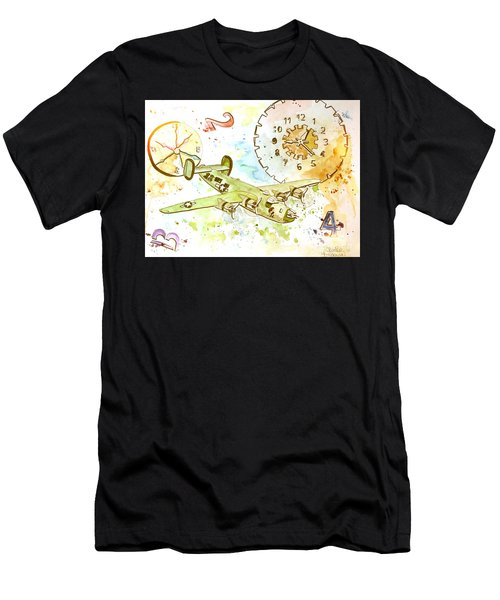 Men's T-Shirt (Athletic Fit) featuring the painting Running Out Of Time by Denise Tomasura