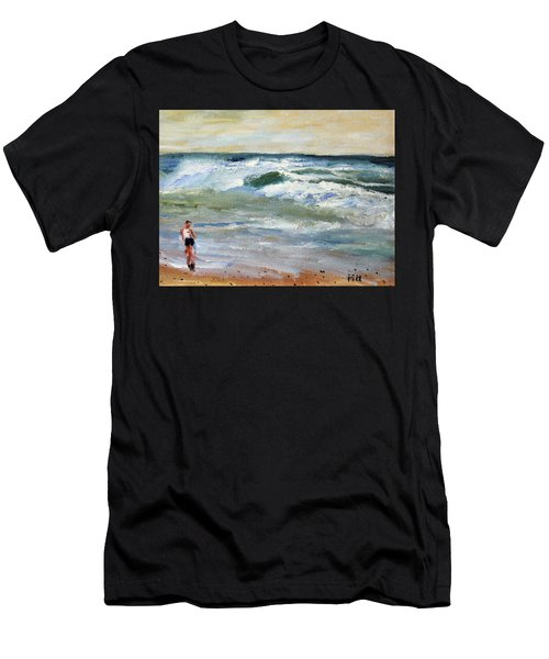 Running The Beach Men's T-Shirt (Athletic Fit)
