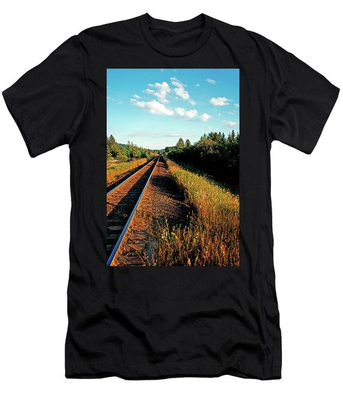 Rural Country Side Train Tracks Men's T-Shirt (Athletic Fit)
