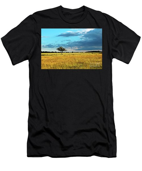 Men's T-Shirt (Athletic Fit) featuring the photograph Rural Idyll Poetry by Silva Wischeropp