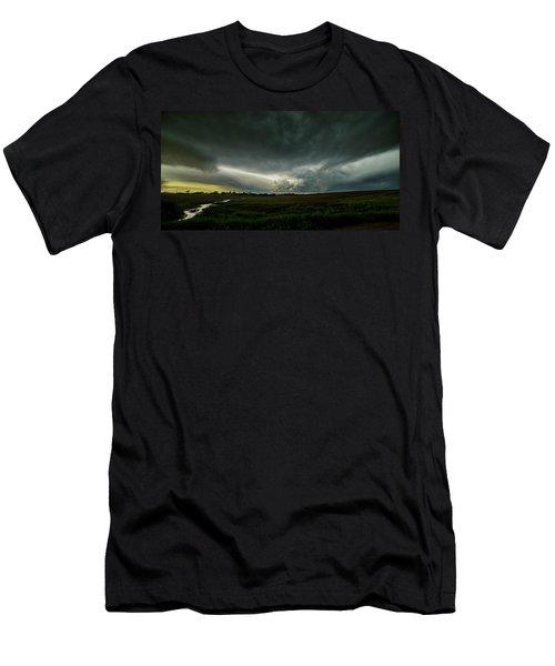 Rural Spring Storm Over Chester Nebraska Men's T-Shirt (Athletic Fit)