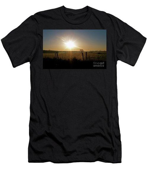 Rural Sunrise Men's T-Shirt (Slim Fit) by Sue Stefanowicz