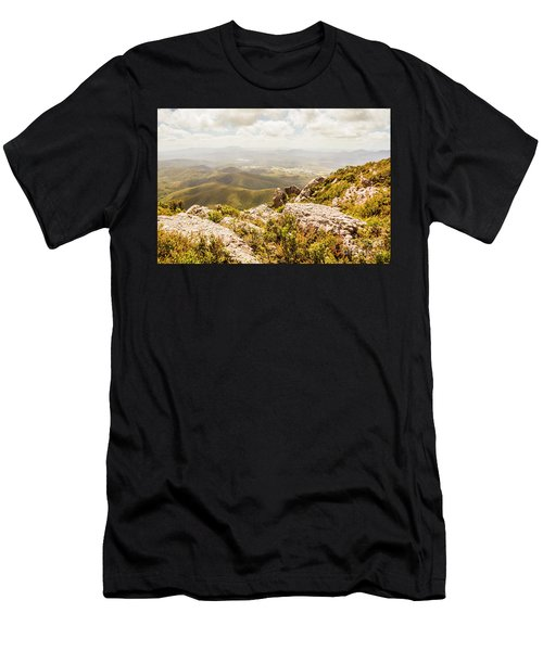 Rural Town Valley Men's T-Shirt (Athletic Fit)