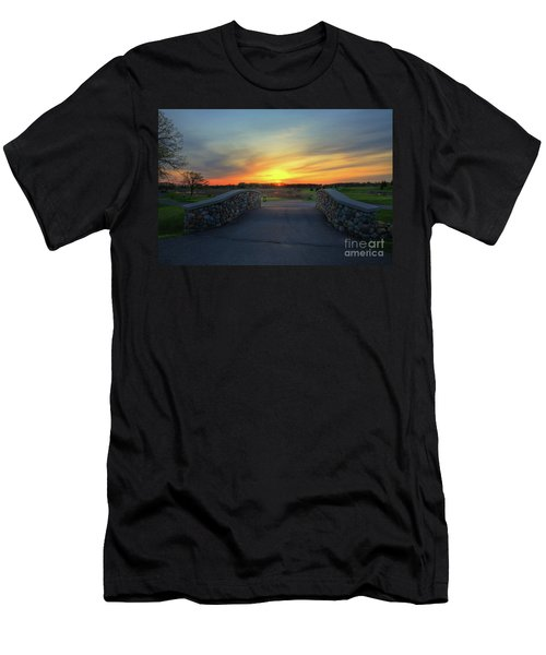 Rush Creek Golf Course The Bridge To Sunset Men's T-Shirt (Athletic Fit)