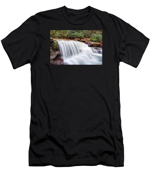 Men's T-Shirt (Slim Fit) featuring the photograph Rushing Waters Of Decker Creek by Gene Walls