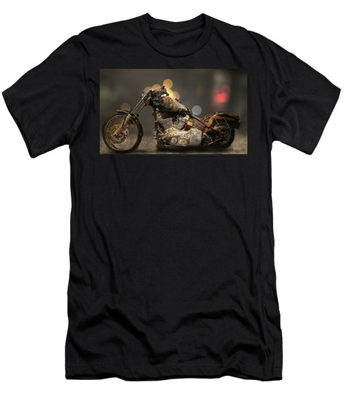 Rusted Harley-davidson Motorcycle Men's T-Shirt (Athletic Fit)
