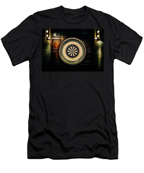 Rustic British Dartboard Men's T-Shirt (Athletic Fit)