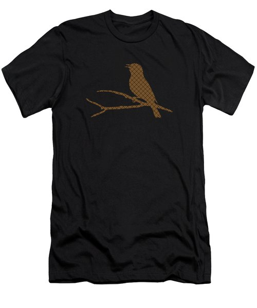 Rustic Brown Bird Silhouette Men's T-Shirt (Athletic Fit)