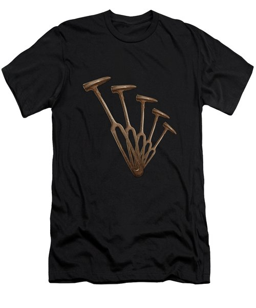 Rustic Hammer Pattern Men's T-Shirt (Athletic Fit)