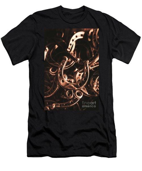 Rustic Horse Shoes Men's T-Shirt (Athletic Fit)