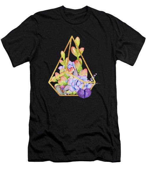 Rustic Succulent Terrarium Men's T-Shirt (Athletic Fit)
