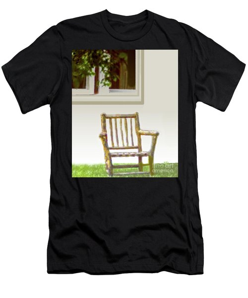 Rustic Wooden Rocking Chair Men's T-Shirt (Athletic Fit)