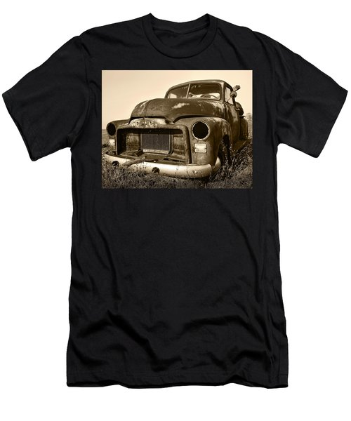 Rusty But Trusty Old Gmc Pickup Truck - Sepia Men's T-Shirt (Athletic Fit)