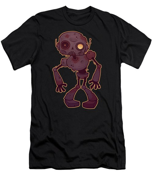 Rusty Zombie Robot Men's T-Shirt (Athletic Fit)