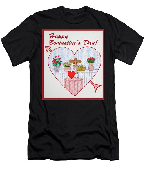 Ruthie-moo Happy Bovinetinesday Men's T-Shirt (Athletic Fit)