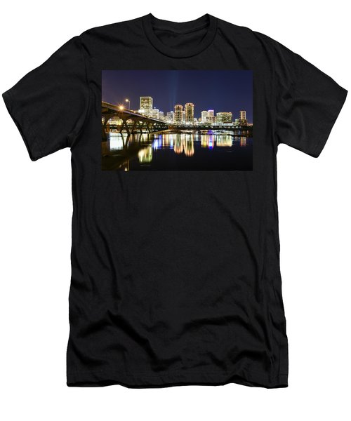 Rva Night Lights Men's T-Shirt (Athletic Fit)