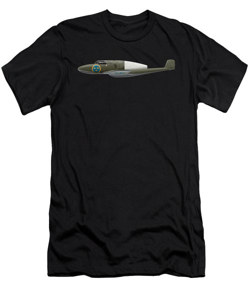 Saab J 21 R - Prototype -  Side Profile View Men's T-Shirt (Athletic Fit)