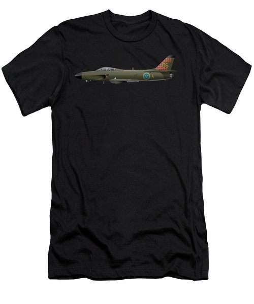 Saab J32d Lansen - 32606 - Side Profile View Men's T-Shirt (Athletic Fit)