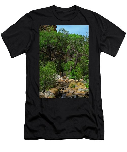 Men's T-Shirt (Athletic Fit) featuring the photograph Sabino Canyon V49 by Mark Myhaver