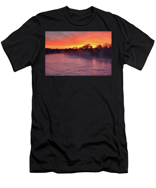 Sacramento River Sunrise Men's T-Shirt (Athletic Fit)
