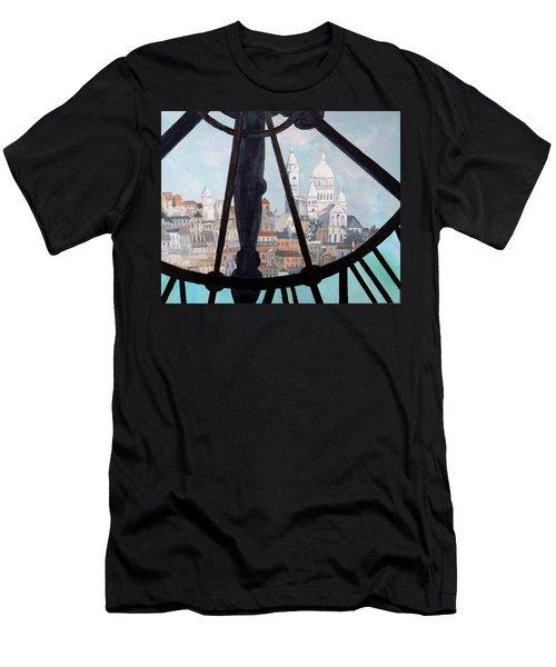 Sacre Coeur From Musee D'orsay Men's T-Shirt (Slim Fit) by Diane Arlitt