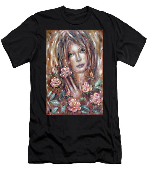Sad Venus In A Rose Garden 060609 Men's T-Shirt (Athletic Fit)