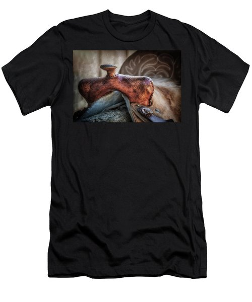 Men's T-Shirt (Slim Fit) featuring the photograph Saddle Up Still Life II by Tom Mc Nemar