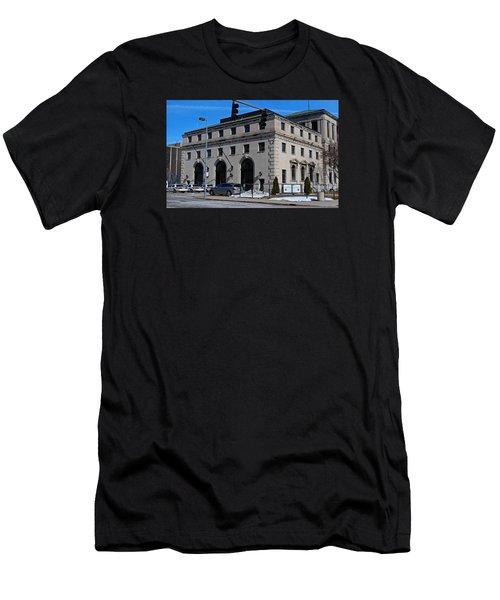 Safety Building Men's T-Shirt (Slim Fit) by Michiale Schneider