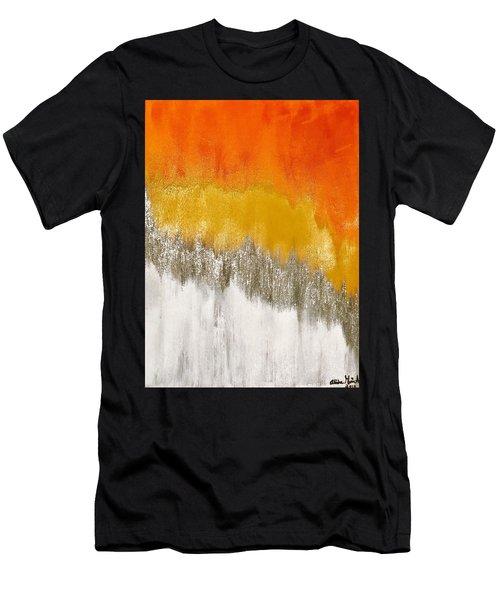 Saffron Sunrise Men's T-Shirt (Athletic Fit)