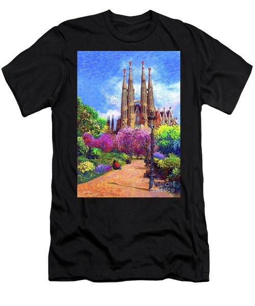 Sagrada Familia And Park Barcelona Men's T-Shirt (Athletic Fit)