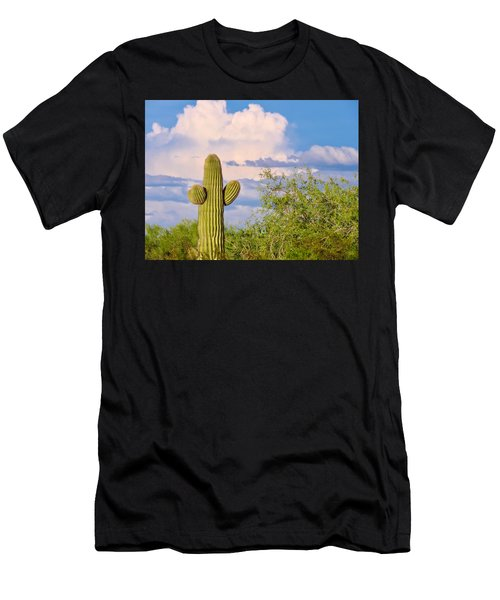 Saguaro And Mesquite In Monsoon Season Men's T-Shirt (Athletic Fit)