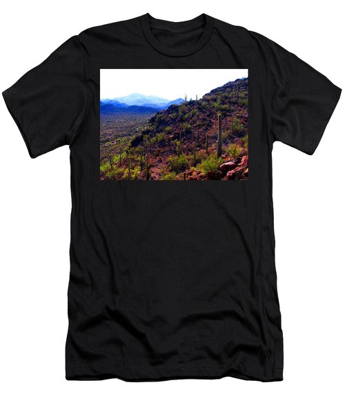 Men's T-Shirt (Athletic Fit) featuring the photograph Saguaro National Park Winter 2010 by Michelle Dallocchio