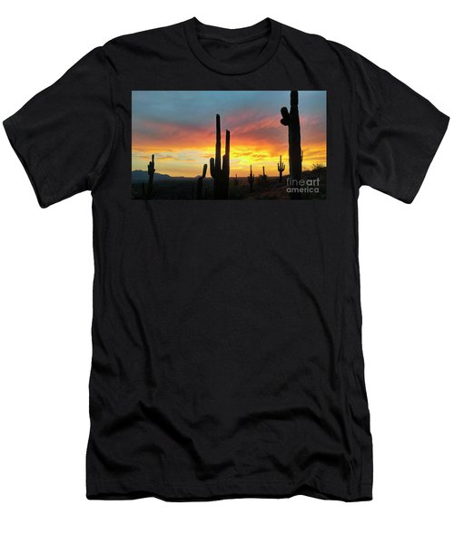 Saguaro Sunset Men's T-Shirt (Athletic Fit)