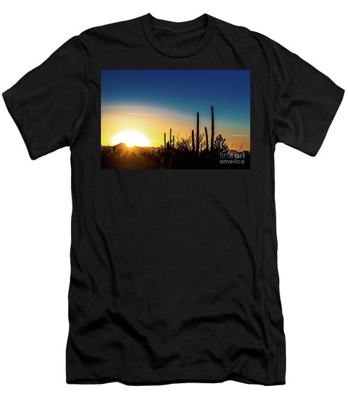 Saguaro Sunset Men's T-Shirt (Athletic Fit)