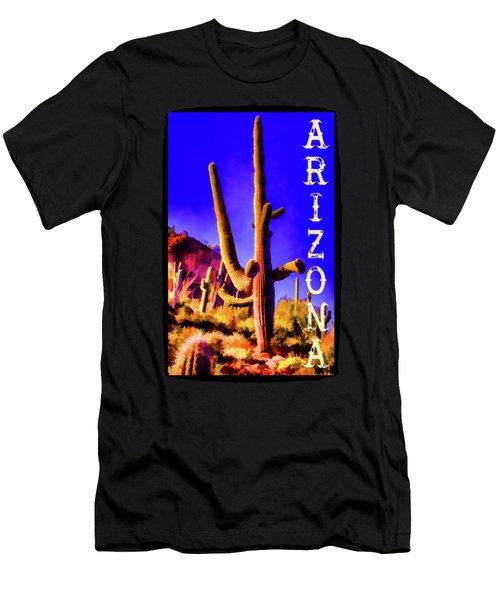 Saguaros Everywhere Men's T-Shirt (Athletic Fit)