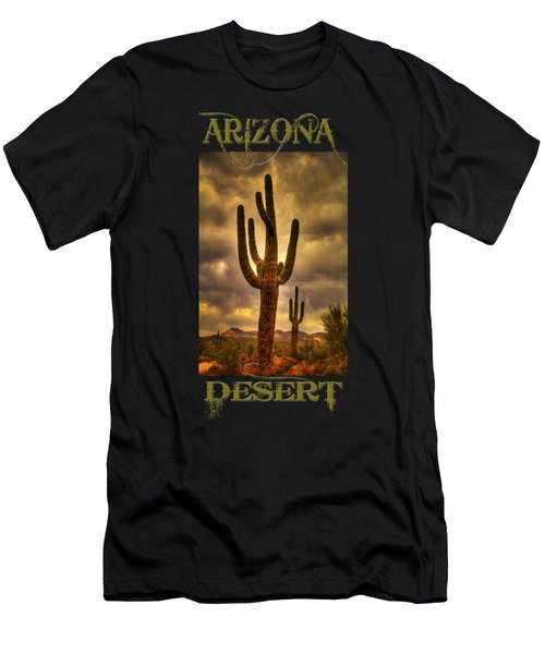 Saguaros On The Sonoran Late Afternoon Men's T-Shirt (Athletic Fit)