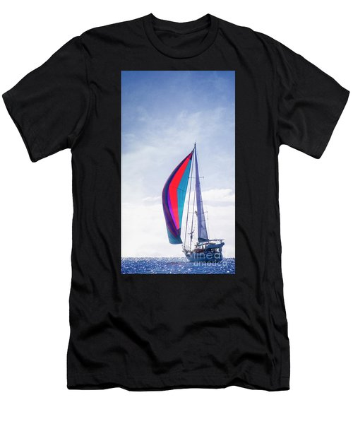 Men's T-Shirt (Athletic Fit) featuring the photograph Sail Away by Scott Kemper