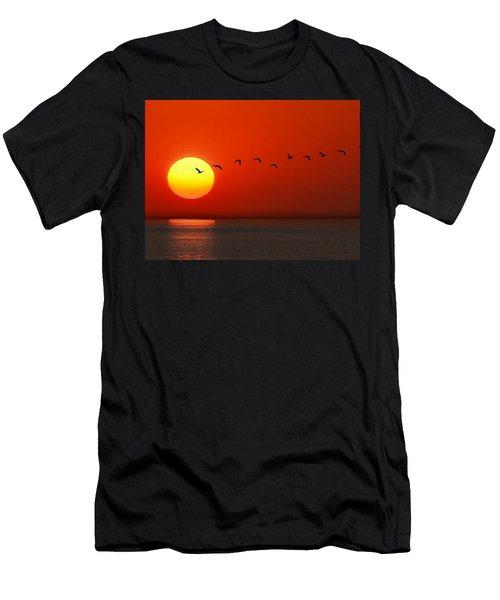 Sailboat At Sunset Men's T-Shirt (Athletic Fit)