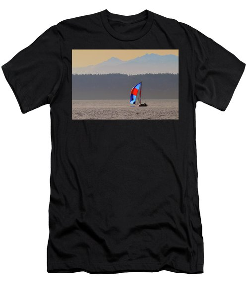 Sailboat Men's T-Shirt (Athletic Fit)