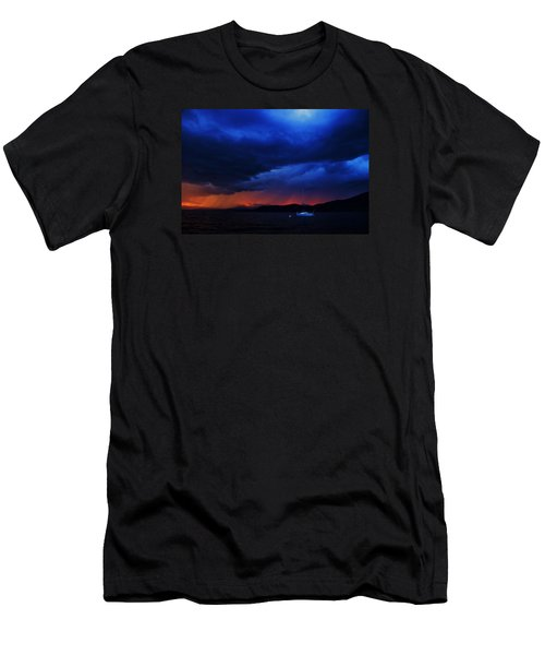 Men's T-Shirt (Slim Fit) featuring the photograph Sailboat In Thunderstorm by Sean Sarsfield