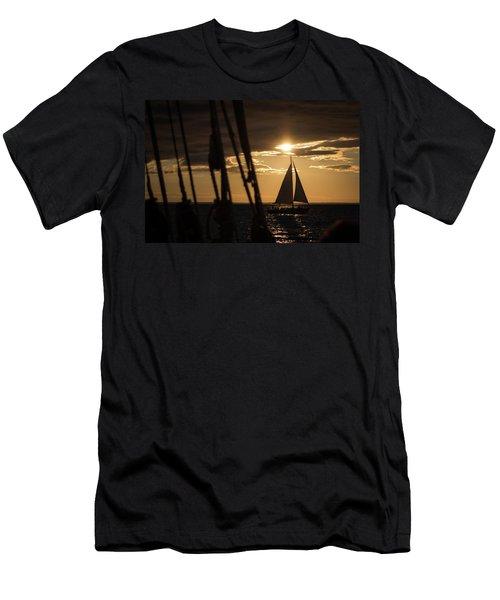Sailboat On The Horizon Men's T-Shirt (Athletic Fit)