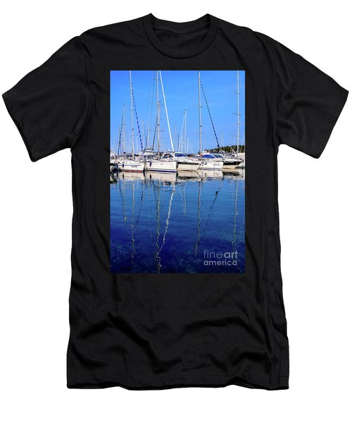 Sailboat Reflections - Rovinj, Croatia  Men's T-Shirt (Athletic Fit)