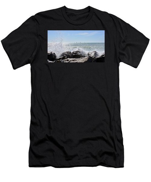 Sailboats And Surf Men's T-Shirt (Slim Fit) by Carol Bradley